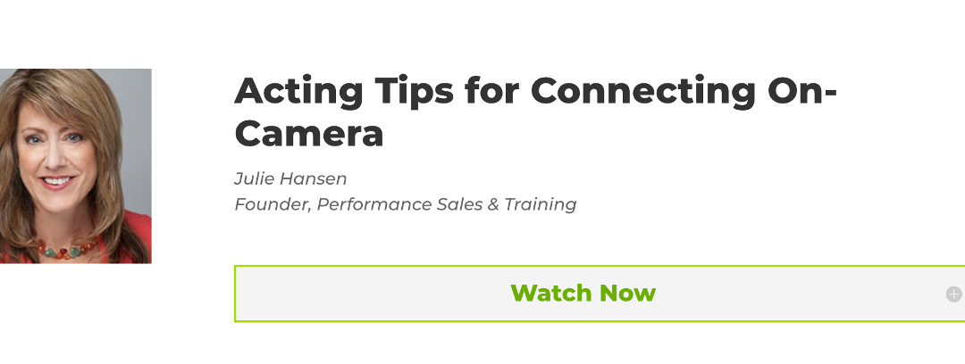 """""""Acting Tips for Connecting On-Camera"""" DEMOFEST Presentation"""