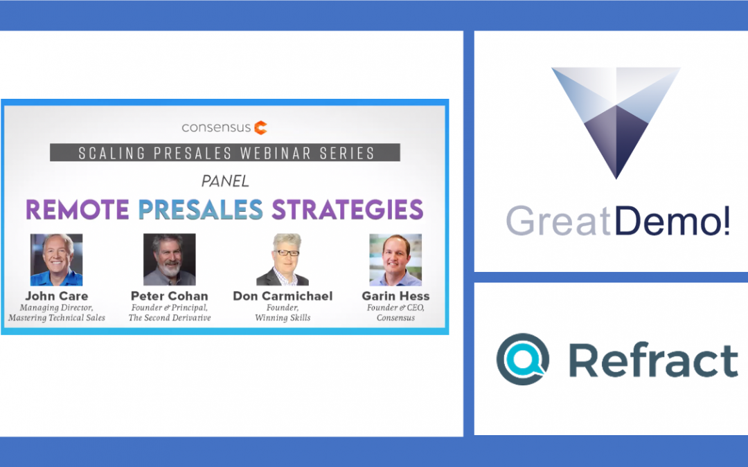 """""""Getting to Great: Coaching for 7 Habits for Stunningly Successful Demos"""" –  Webinar Recordings"""